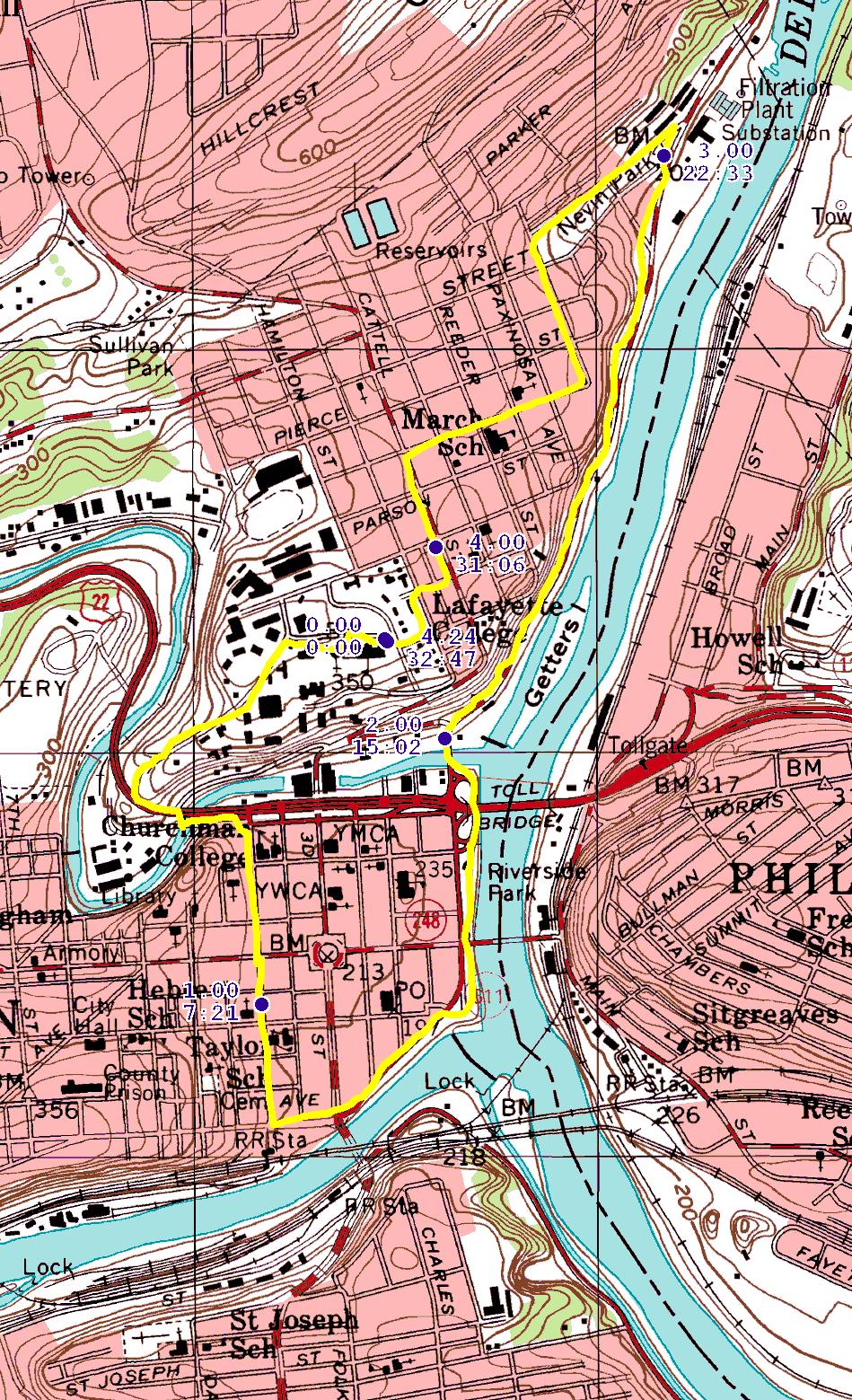 lehigh and delaware rivers meet at